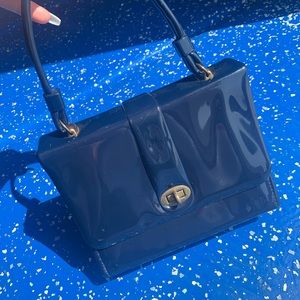 60s Patent Leather Top Handle Purse